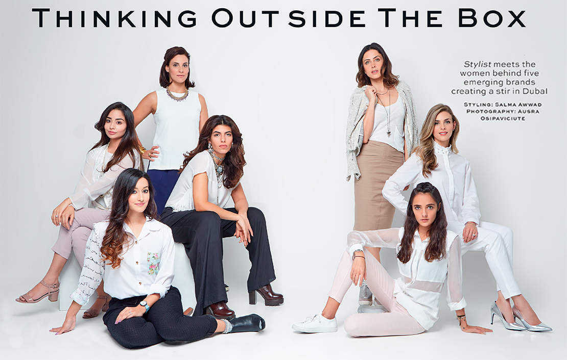 My styling shoot with Stylist Arabia celebrating some of Dubai's homegrown creative rising stars
